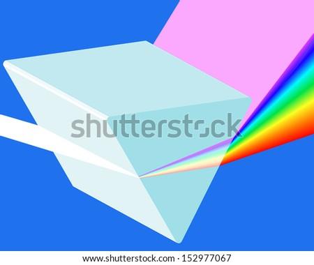 Spectrum prism icon for various design