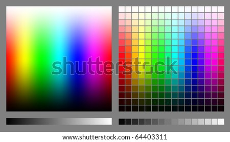 Spectrums representing RGB color space. Created using gradient meshes and simple rectangles