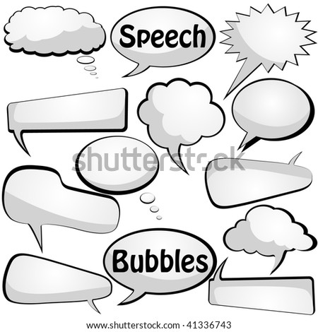 Speech and thought vector bubbles. Visit the gallery for more cool stuff