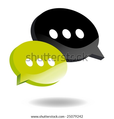 speech balloon symbol - stock vector