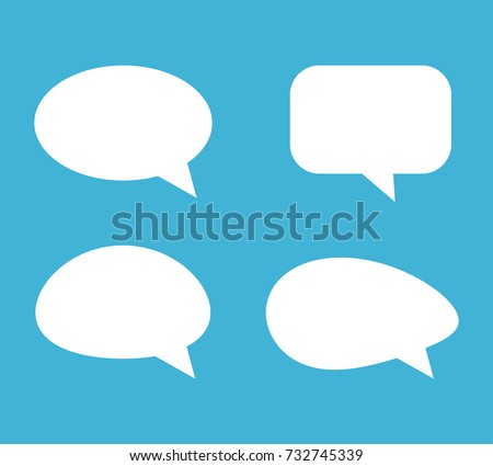 Speech Bubble Background. Blank empty white speech bubbles. Vector illustration.