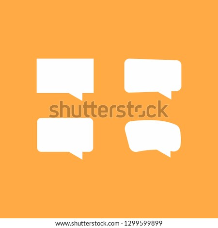 Speech Bubble Background. Blank empty white speech bubbles. Vector illustration. - Vector