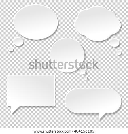 speech bubble big set  isolated