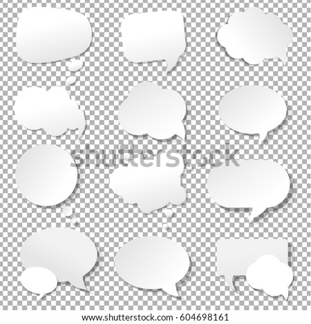 Speech Bubble Collection With Gradient Mesh, Vector Illustration