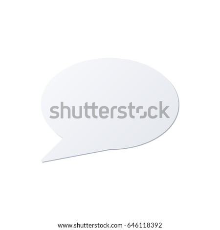 Speech bubble color icon isolated on a white background. #646118392