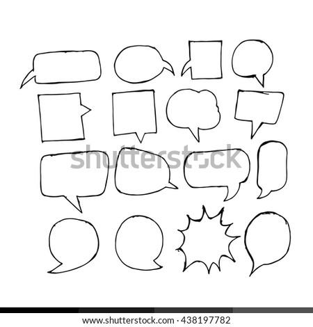 Speech bubble hand drawing illustration design