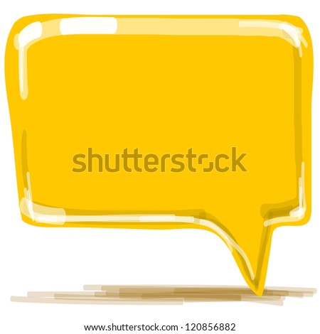 Speech bubble. Hand drawing sketch vector illustration