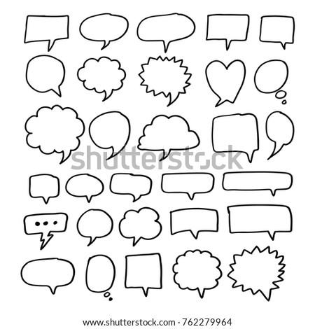 Speech Bubble hand drawn