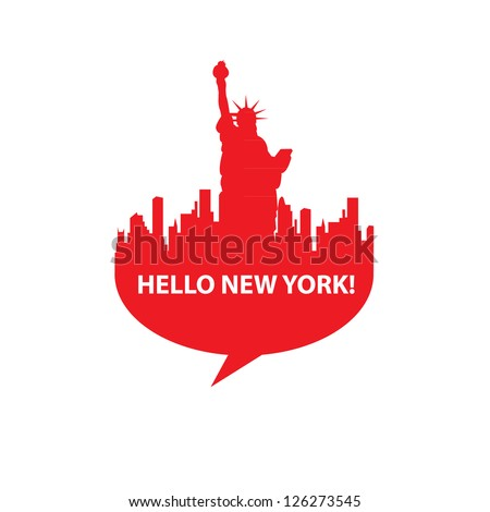 speech bubble   hello new york