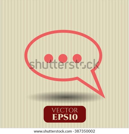 Speech bubble high quality icon