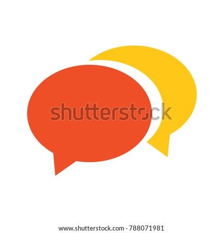 speech bubble icon  ...
