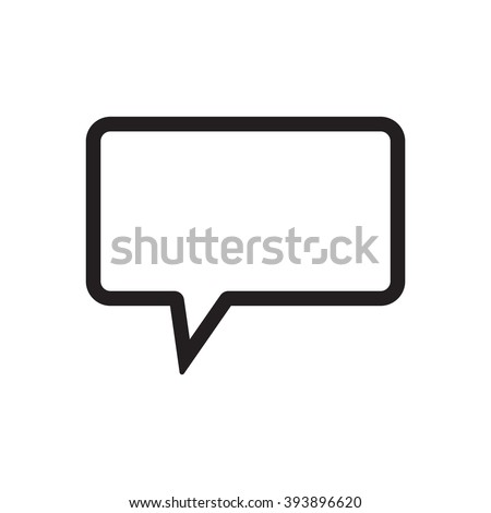 speech  bubble  icon   isolated
