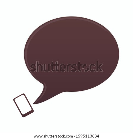 Speech bubble icon. Message vector icon. Message isolate on white background. Vector illustration