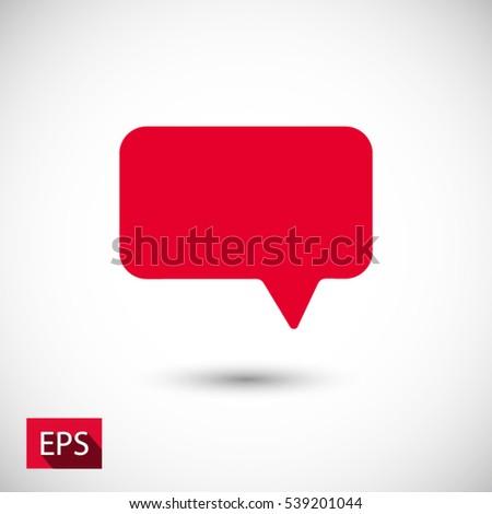 Speech bubble icon. One of set web icons