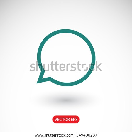 Speech bubble icon. One of set web icons