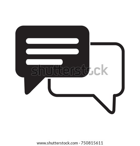speech bubble icon one of set