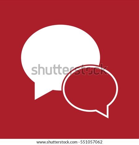 Speech bubble icon or message icon . Vector illustration