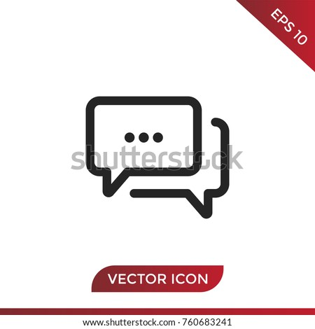Speech bubble icon vector, chat symbol. Forum pictogram, flat vector sign isolated on white background. Simple vector illustration for web site and mobile app