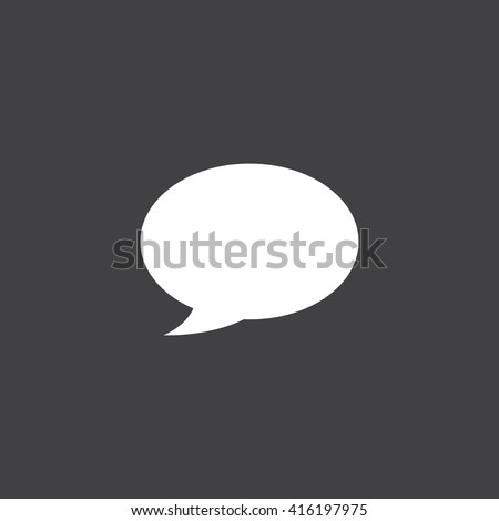 Speech bubble icon vector, solid illustration, pictogram isolated on black