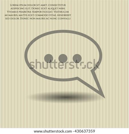 speech bubble icon vector symbol flat eps jpg app web