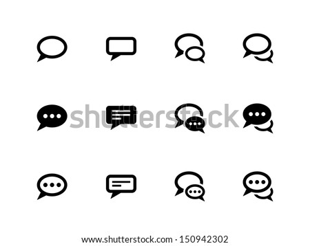 speech bubble icons on white