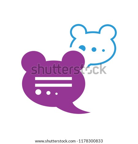 speech bubble illustration, communication icon - conversation symbol, chat icon