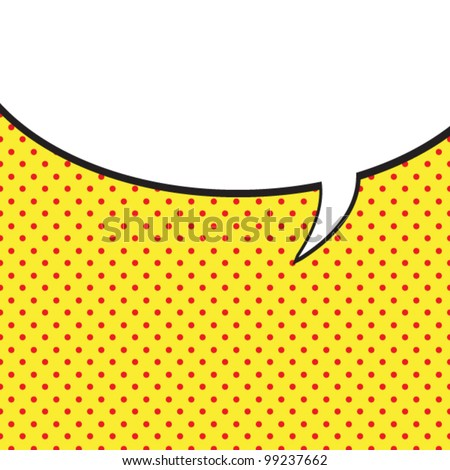 Speech Bubble in Pop-Art Style