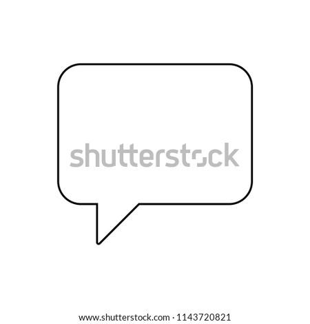 Speech bubble line icon, vector illustration design. Communication collection.