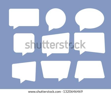 Speech bubble set