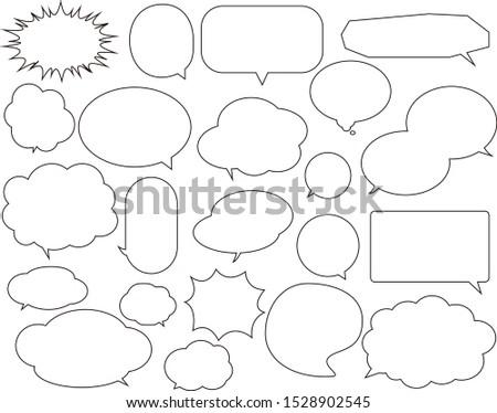 Speech bubble set.speech balloon . speech bubble .