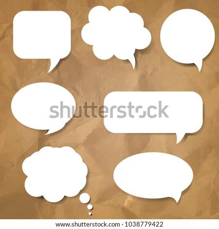 Speech Bubble Set With Gradient Mesh, Vector Illustration