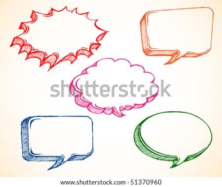 Speech bubble sketch/doodles