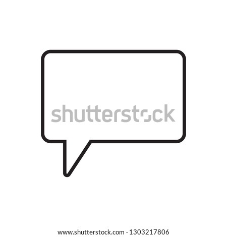 Speech bubble, speech balloon, chat bubble line art vector icon for apps and websites