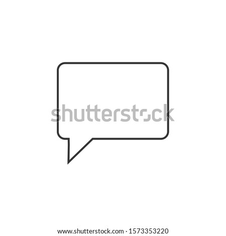 Speech bubble, speech balloon, chat bubble line art vector icon for apps and websites eps 10