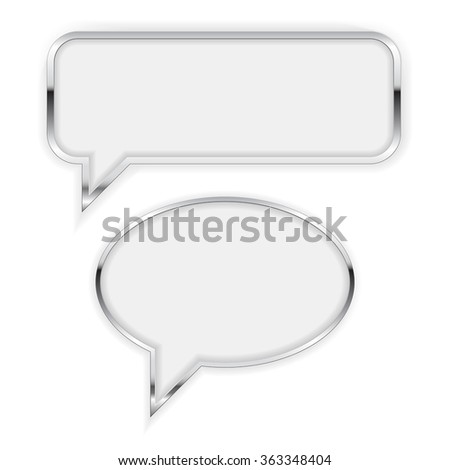 speech bubble square and round
