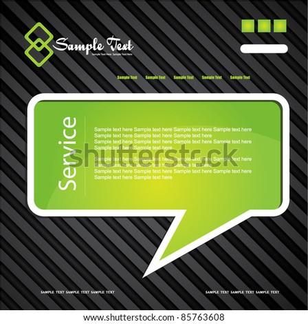 speech bubble stylized web design template