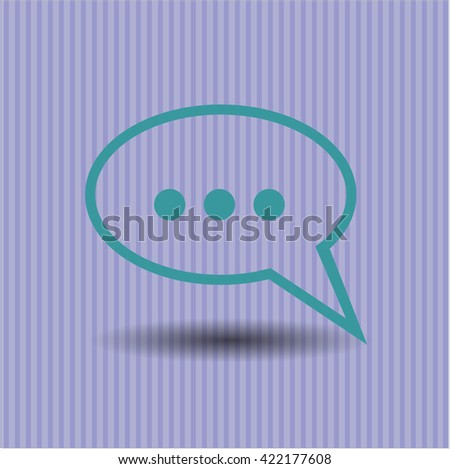 Speech bubble symbol