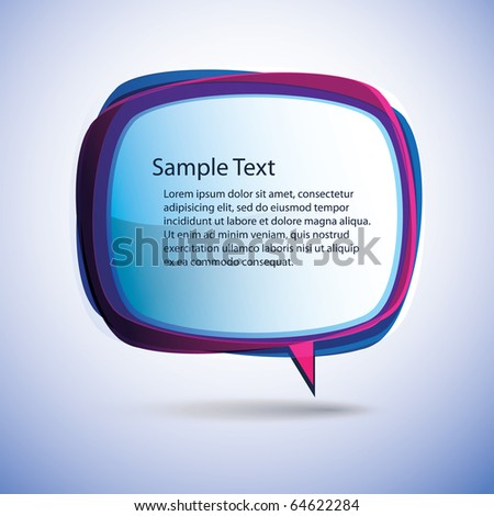 Speech bubble vector background