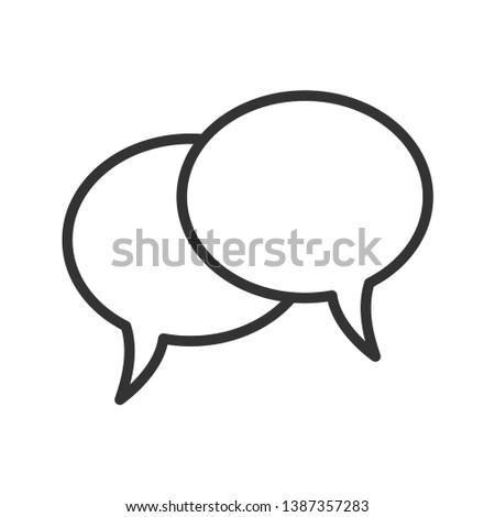 Speech bubble vector icon for apps and websites
