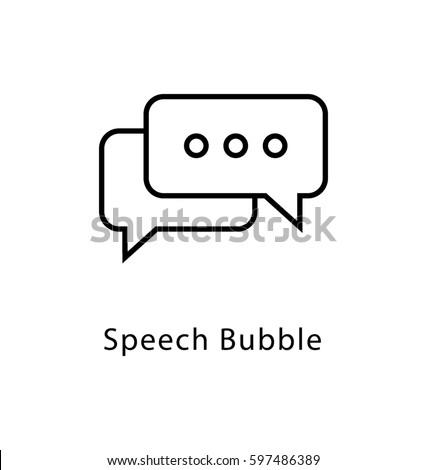 Speech Bubble Vector Line Icon