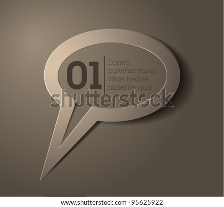 speech bubble vector / simple design / gray