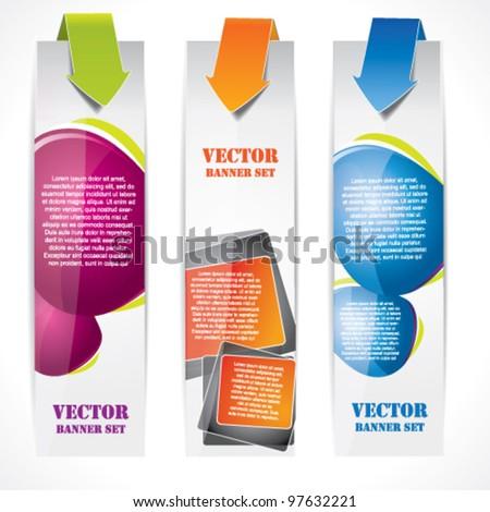 Speech bubble vertical banner set