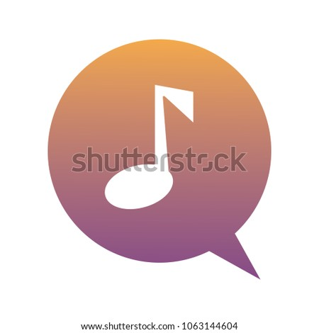 speech bubble with musical note