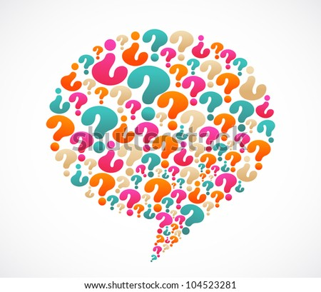 Speech Bubble With Question Mark Icons