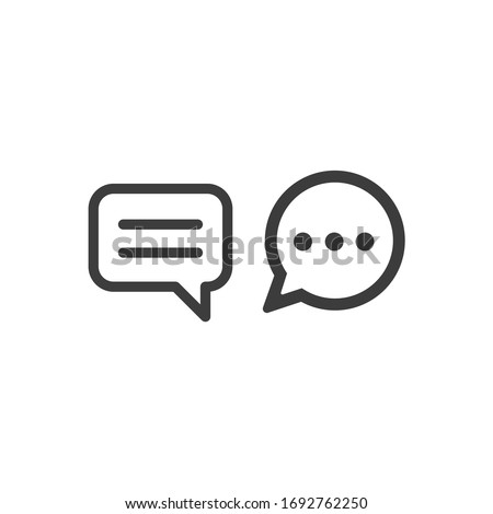 Speech Bubble With Text Lines icon vector