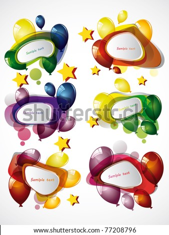 speech bubbles and baloons