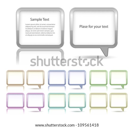 Speech bubbles and dialog boxes set