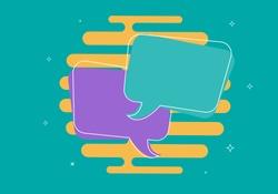Speech bubbles. Chat bot concept. Virtual assistance elements. Vector illustration.