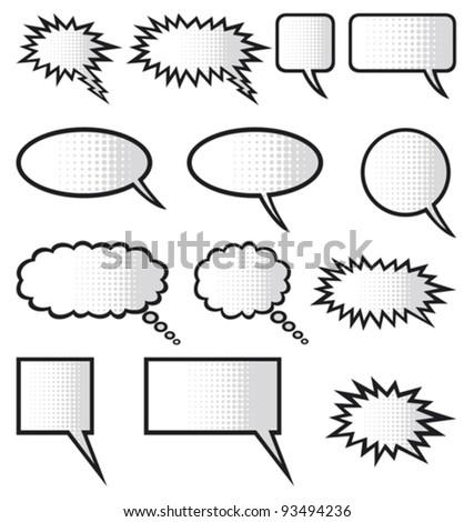 speech bubbles (comic speech bubbles)
