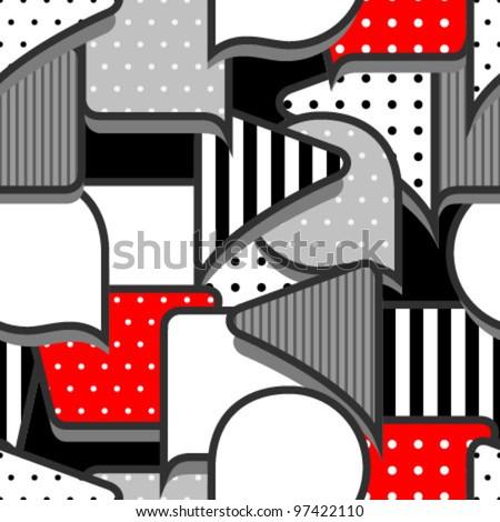 speech bubbles grey red